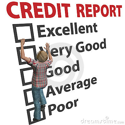 Free Woman Builds Up Credit Report Score Rating Stock Images - 17205444