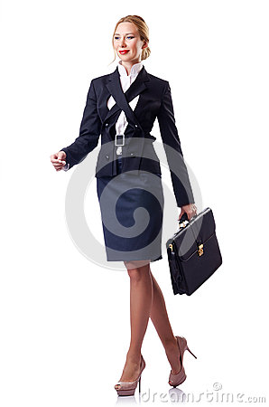 Woman businessman isolated