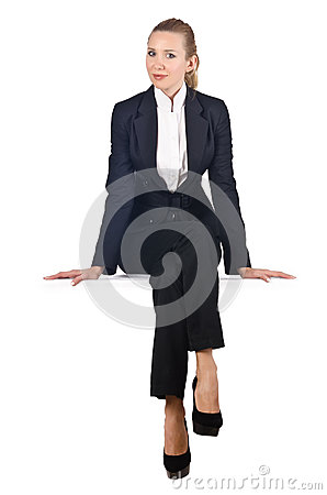 Woman businesswoman sitting