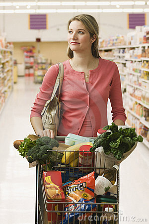 Woman Buying Groceries