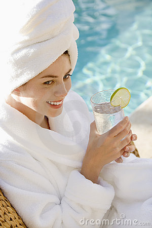Free Woman By Pool. Royalty Free Stock Photo - 3181575