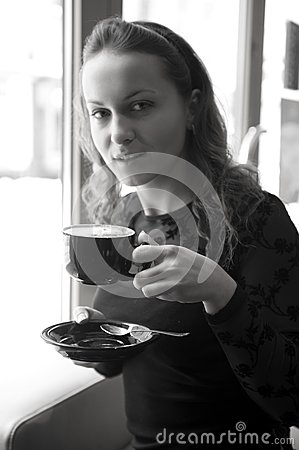 Woman in the cafe