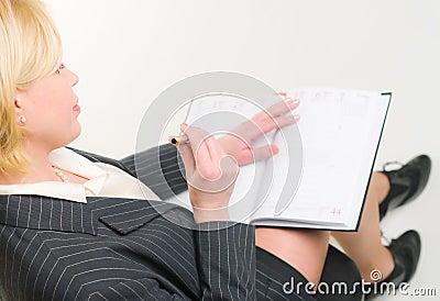 Woman and calendar
