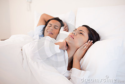Woman can t sleep next to her snoring boyfriend