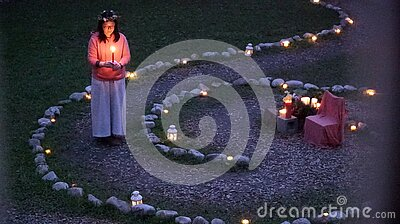 Woman With Candle Free Public Domain Cc0 Image