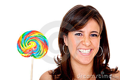 Woman with candy