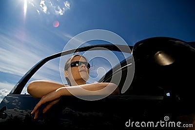 Woman in a car 1