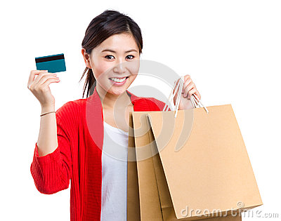 Woman carry shopping bag