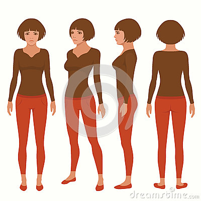 Free Woman Cartoon Character Stock Image - 61782261