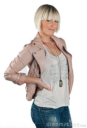 Woman in casual clothes