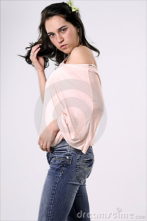 Woman in Casual Clothing