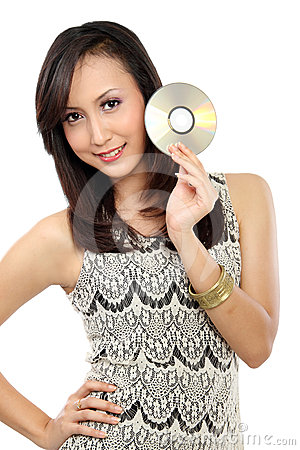 Woman with CD