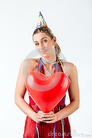 Free Woman Celebrating Birthday Or Valentines Day Stock Images - 45479504