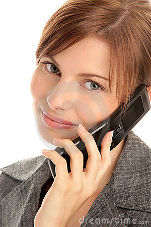Woman With Cell Phone Stock Images - Image: 11241504