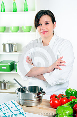 Free Woman Chef Stock Image - 9625791