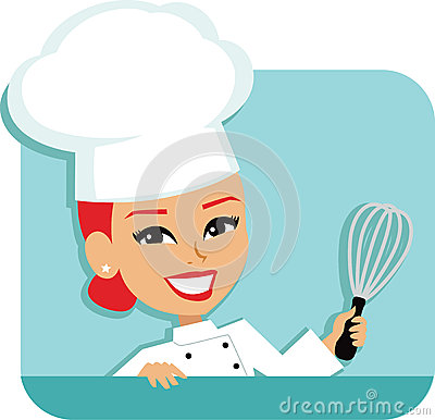 Free Woman Chef Cartoon Baking Illustration Royalty Free Stock Photo - 41910105