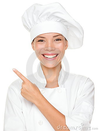 Free Woman Chef Pointing Royalty Free Stock Photos - 20931758