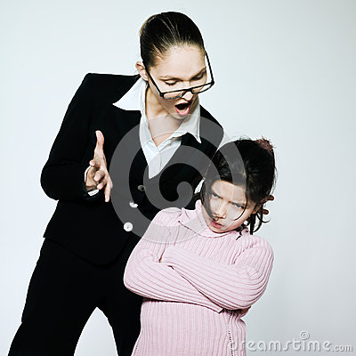 Woman child conflict dispute problems
