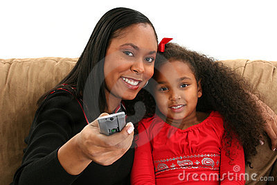 Woman, Child, Remote
