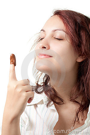 Woman with Chocolate Spread