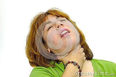 Woman Choking herself