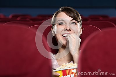 Woman at the cinema