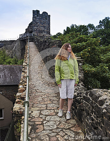 A Woman on the City Wall, Conwy