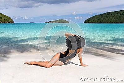 Woman classy beach