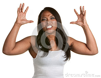 Woman With Clenched Teeth