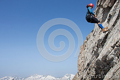 Woman climber