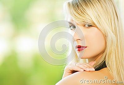 Woman close-up portrait