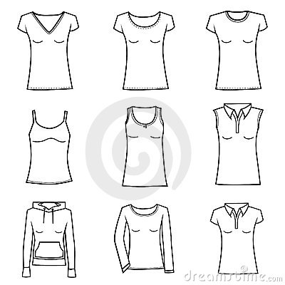 Royalty Free Stock Photo: Woman clothes set