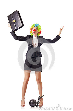 Woman clown