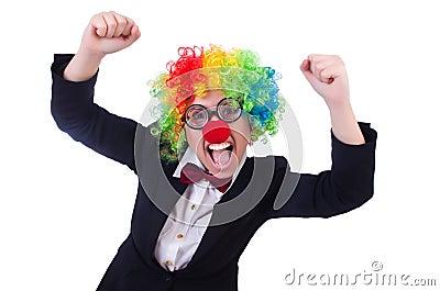 Woman clown businesswoman