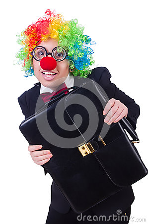 Woman clown businesswoman