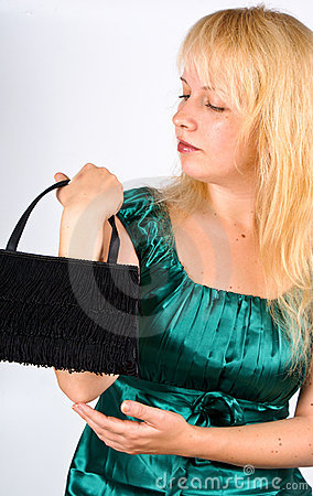 woman with clutch bag