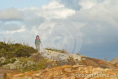 Woman on coastal walk