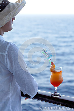 Woman with a cocktail