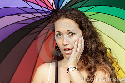 Woman colorful portrait