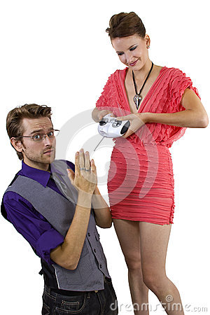 Woman Controlling Boyfriend