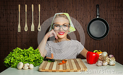 Woman cook