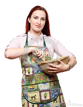 Woman cooking and baking