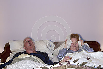 Woman Coping with Snoring Husband