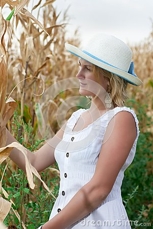 Woman In Corn Field Stock Photography - Image: 34150472