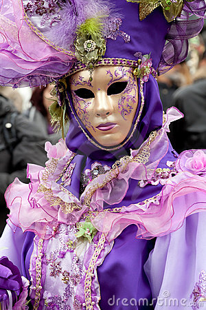 Woman in costume on Venetian carnival Editorial Stock Photo