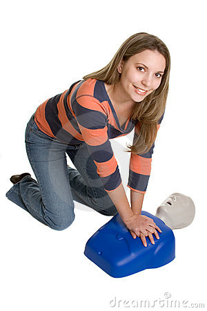 Woman CPR Training
