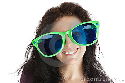 Woman in crazy glasses