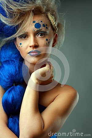 Woman with creative hairstyle