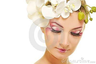 woman with creative make-up