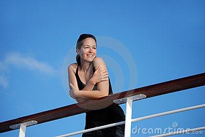 Woman on cruise ship